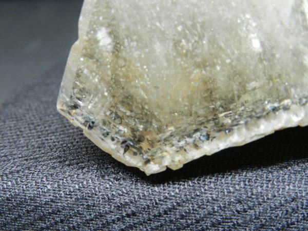 Close up of edge of Smokey Quartz with Spharalite