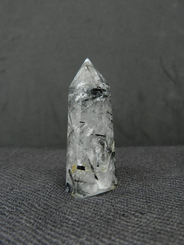 Side image of Rutilated Tourmaline Quartz