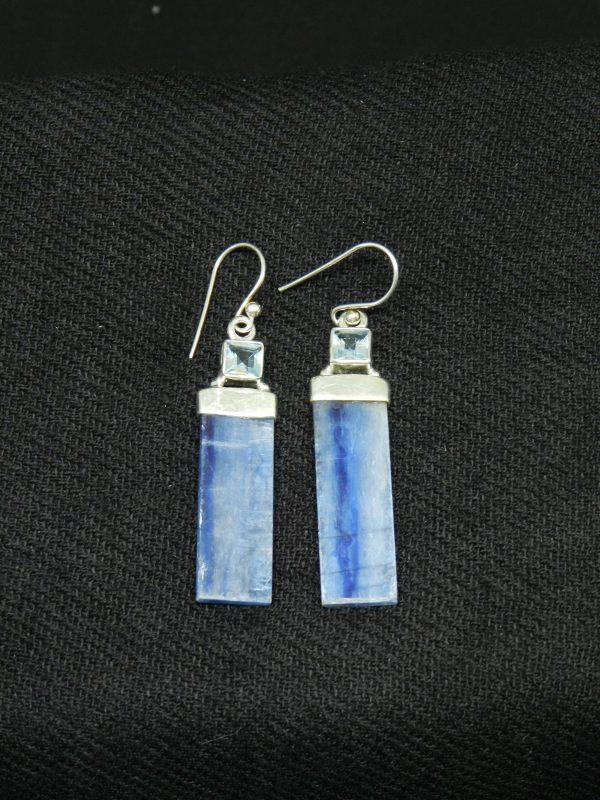 Image of Topaz w. Kyanite earrings