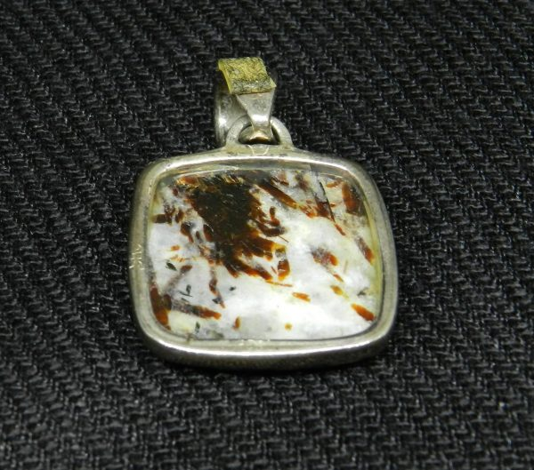 Image of reverse side of Astrophyllite Pendant
