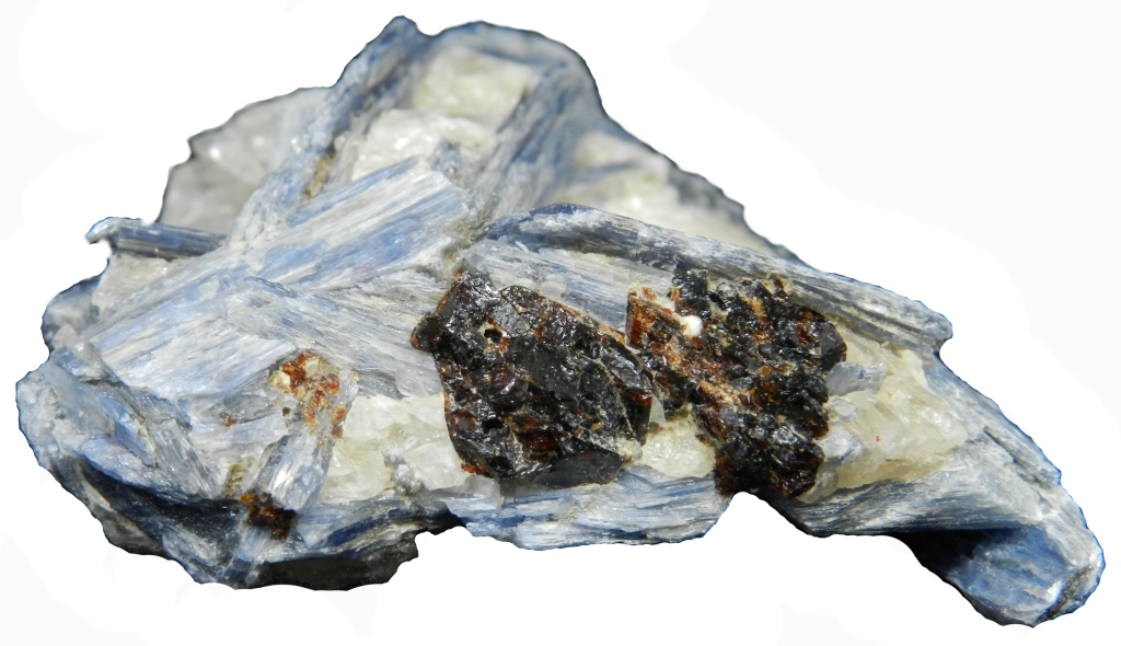 Image of Blue Kyanite with the background removed