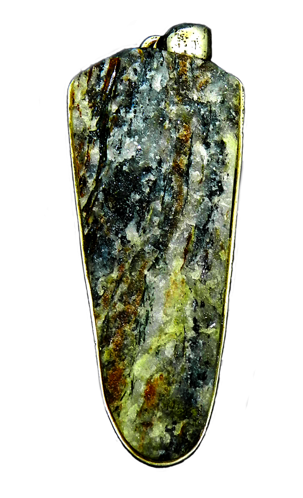 Astrophyllite with background removed and colours enhanced