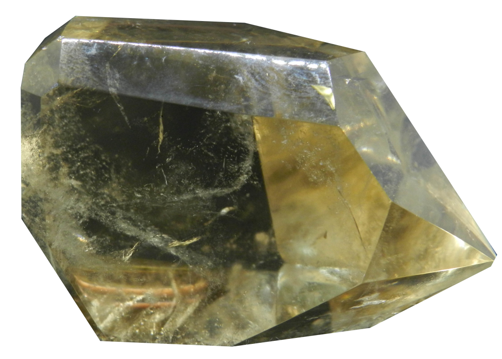 Image of Citrine crystal with the background removed