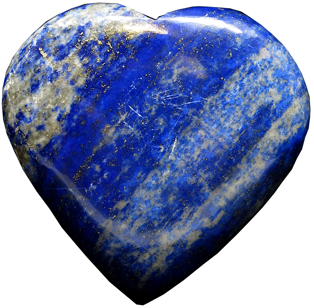 Lapis Lazuri heart image with background removed
