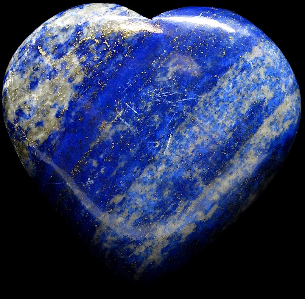 Lapis Lazuri heart image with background removed