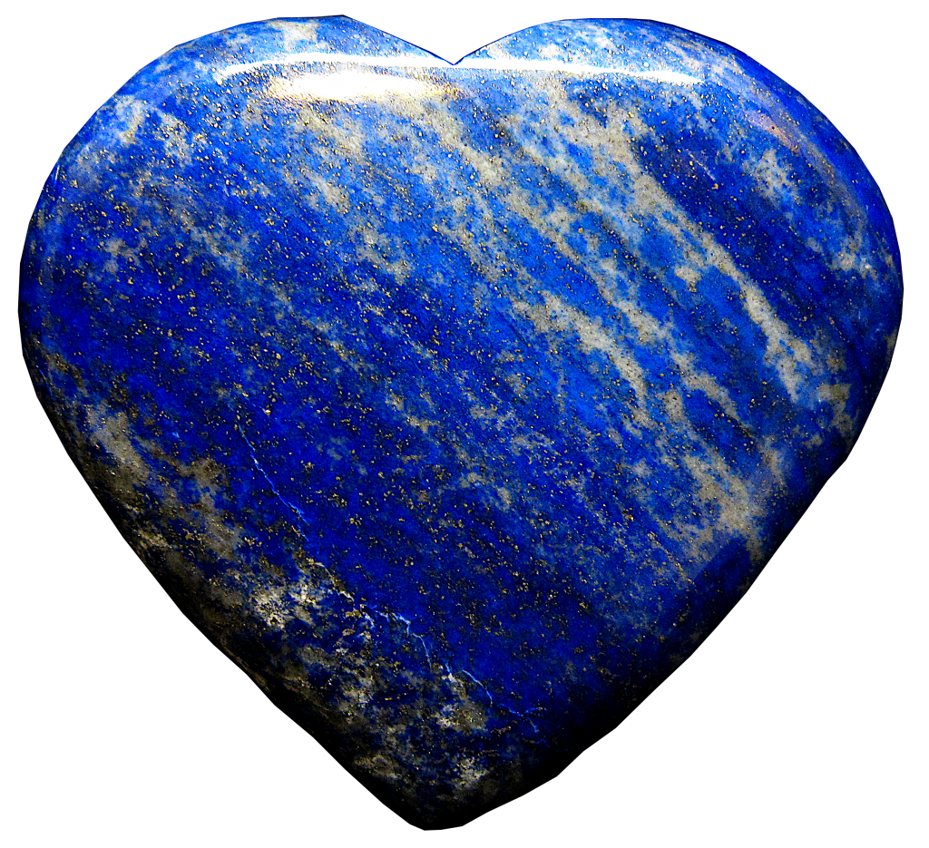 Lapis Lazuri crystal image with background removed