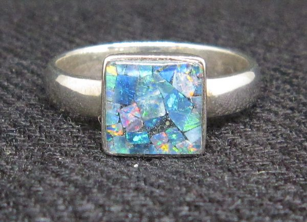 Opal Ring UK size P