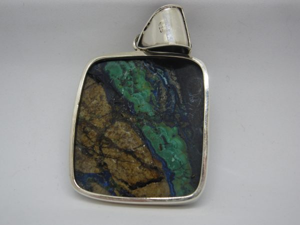 Azurite pendant rear view