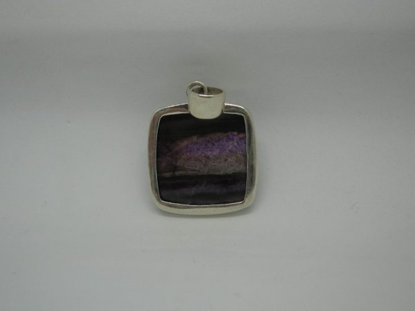 Sugalite pendant rear