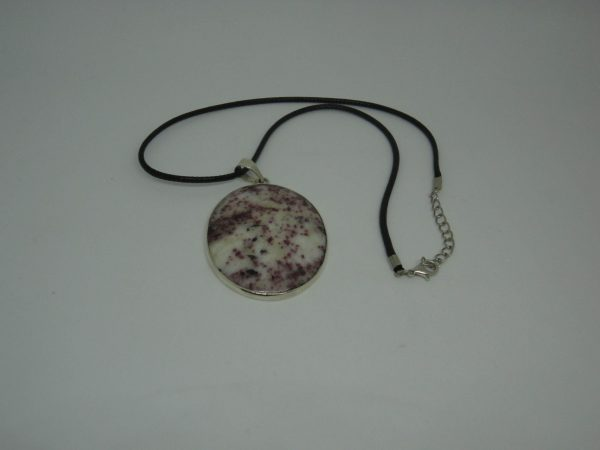 Kakortokite pendant with chain