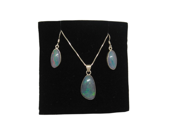 Opal earrings and pendant main image