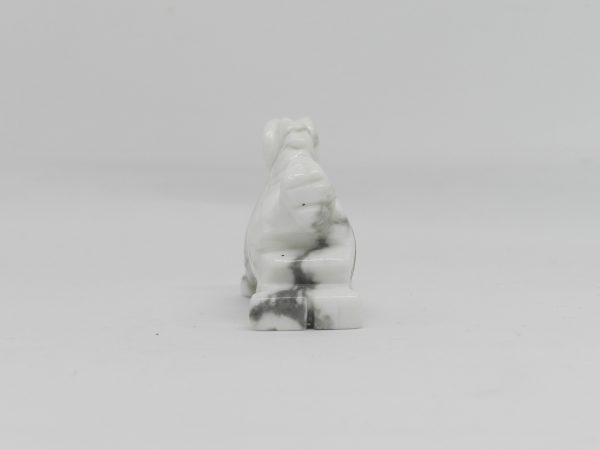 Rear view of Howlite Horse