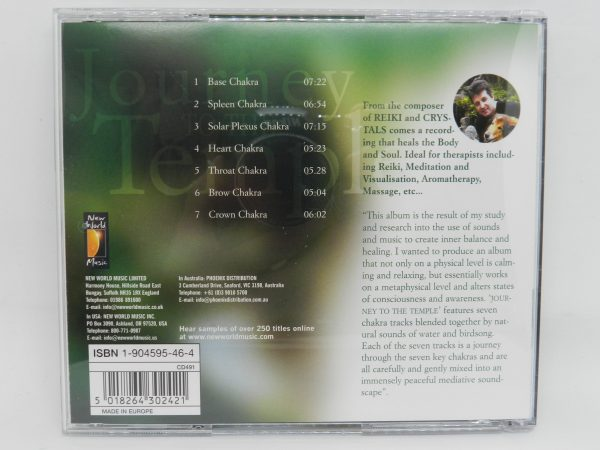 Journey to the Temple by Llewellyn CD rear cover