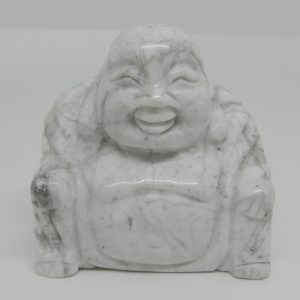 Carved White Howlite Buddha