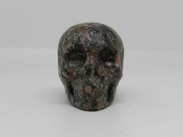 Carved Snakeskin Jasper Skull