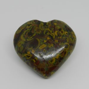 Fruit Jasper Crystal Heart