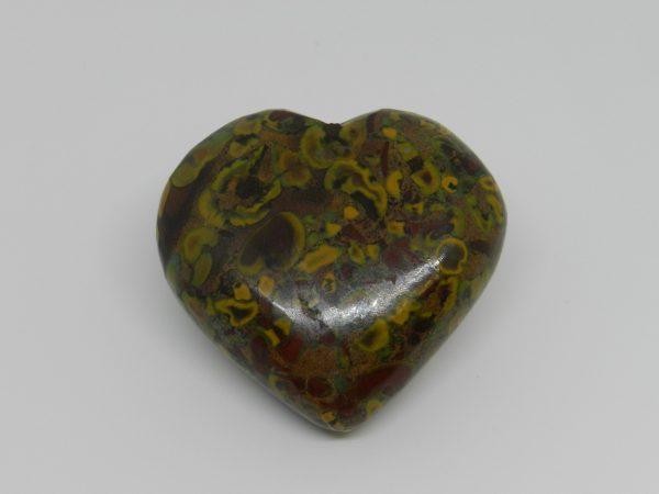 Fruit Jasper Crystal Heart