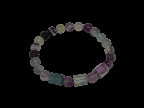 beaded fluorite bracelet