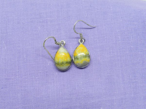 bumblebee jasper crystal earrings