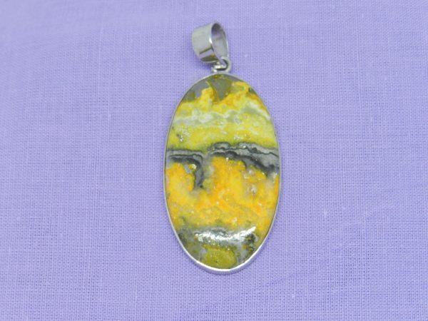 bumblebee jasper crystal pendant