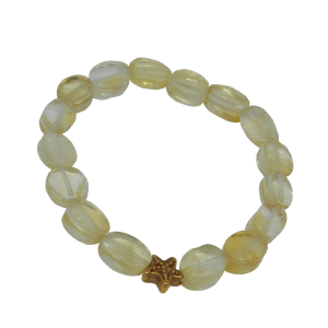 citrine bracelet with starfish bead