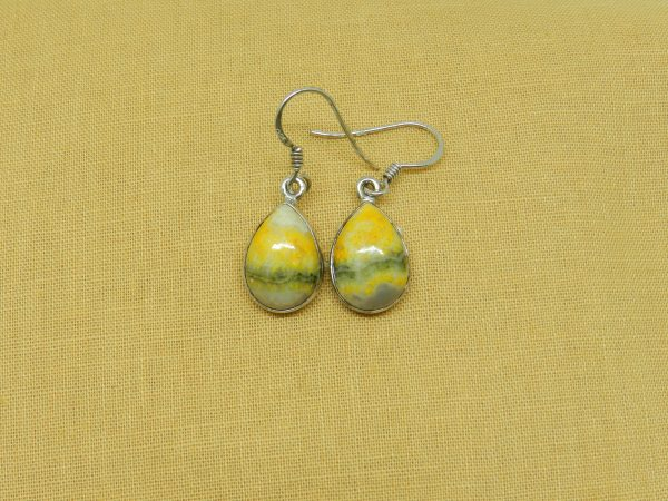 crystal bumblebee jasper earrings