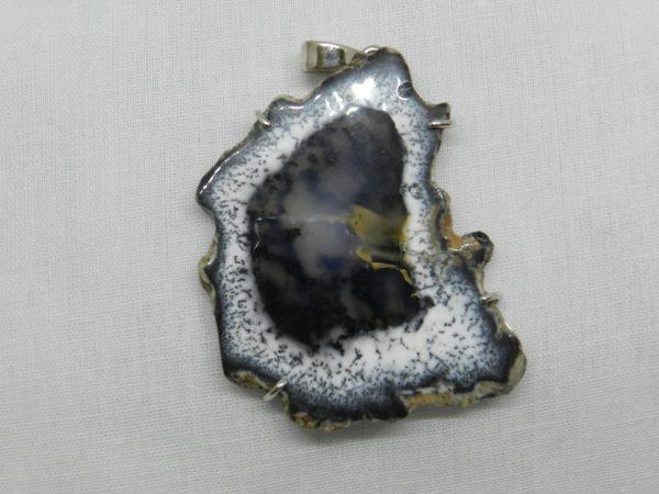 crystal merlinite pendant