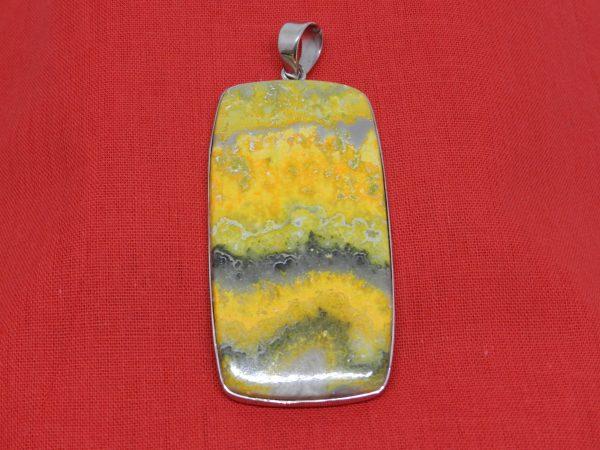 healing crystal bumblebee jasper pendant