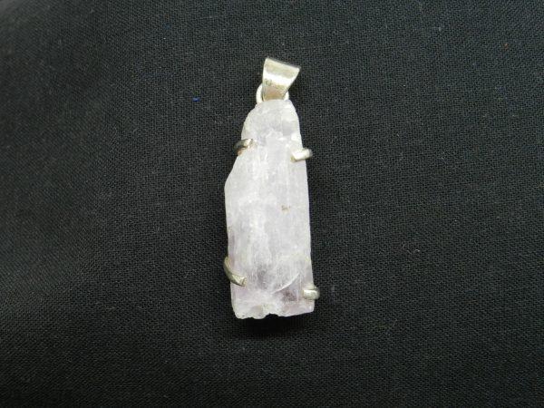 kunzite crystal pendant