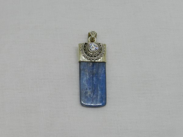 kyanite quartz crystal pendant