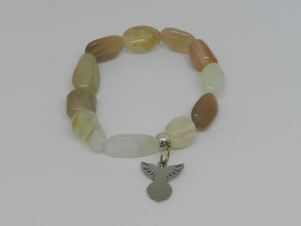 moonstone bracelet with angel bead
