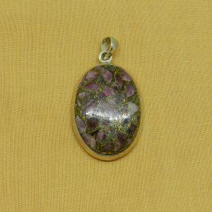 pink tourmaline crystal pendant