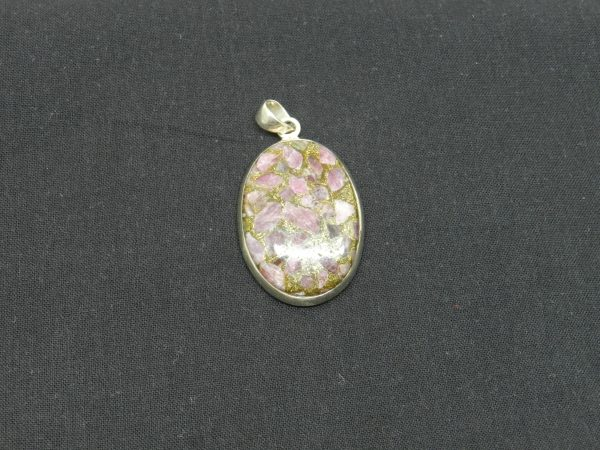 pink tourmaline set pendant