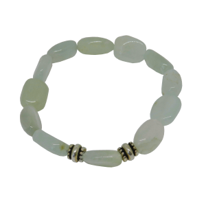 prehnite bracelet 2 beads