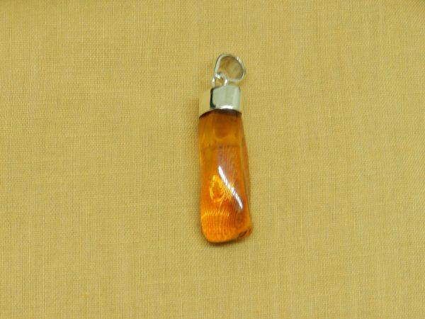 raw amber pendant