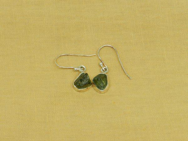 moldavite earrings