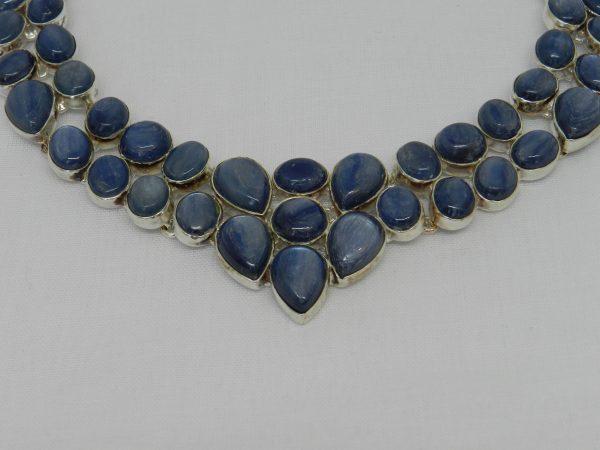 crystal kyanite necklace