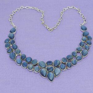 kyanite crystals necklace