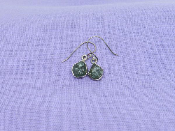 moldavite earring