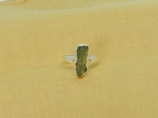 moldavite ring size u