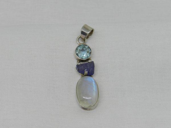 topaz tanzanite moonstone pendant