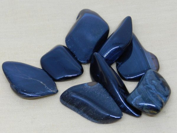 Blue Tigers Eye Crystal Tumblestones