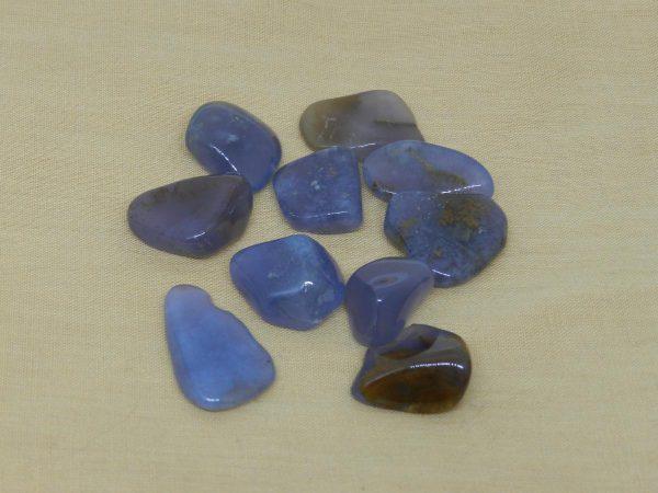 Golden Blue Chalcedony Tumblestones