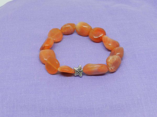 Carnelian with Starfish Charm Bracelet