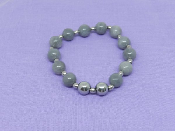 Lunar Quartz beaded bracelet