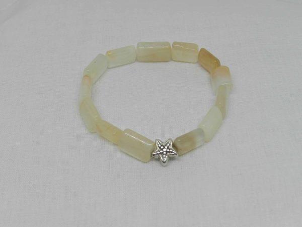 Moonstone with starfish bead bracelet