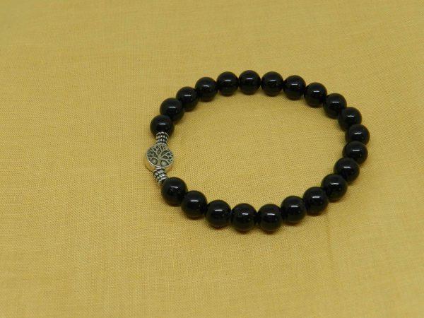 Tourmaline with Tree Charm Bracelet