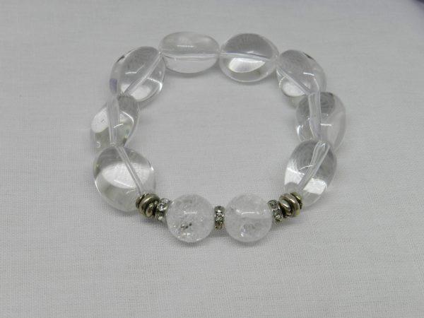 Fire Ice Quartz Crystal Bracelet