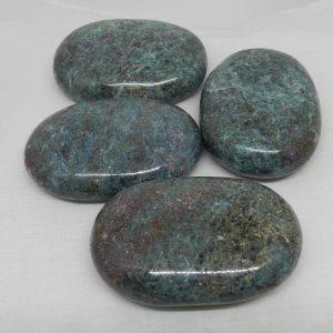 Kyanite & Ruby Palmstones