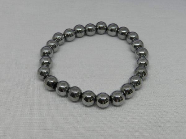 Silver Hematite Bracelet